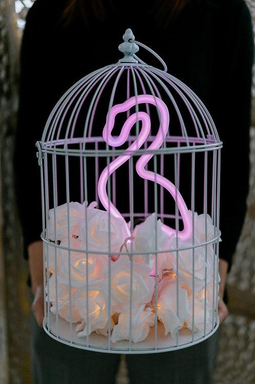 現貨 - 韓式鳥蘢·玫瑰花霓虹檯燈 (粉紅色天鵝)