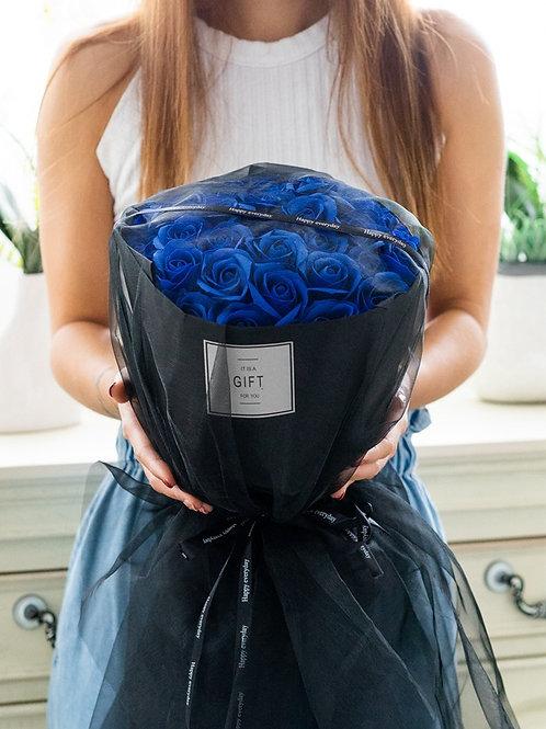 現貨- 32支韓式永久香薰玫瑰花束(藍色)