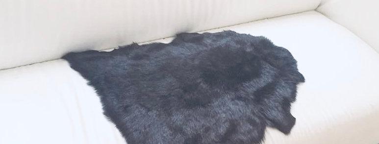 黑色高山長羊毛原張皮塊