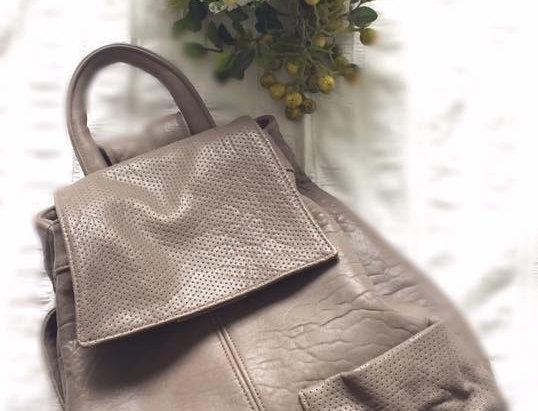 韓式簡約羊皮背包