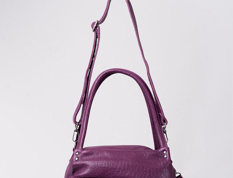 [限時優惠]編織車花設計羊皮斜揹手挽包