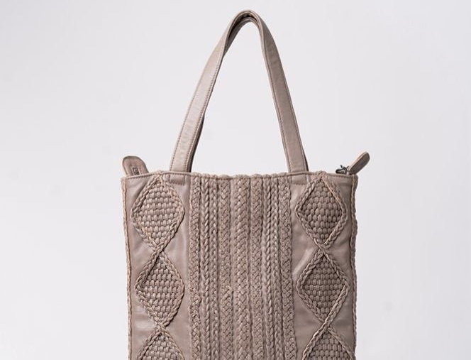 獨特編織花羊皮包