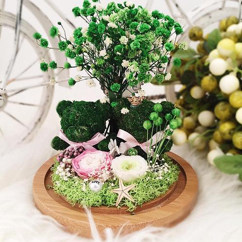[恒生員工限時優惠] 現貨 - 韓式手工永生熊仔滿天星 (綠色)