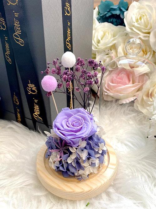 """現貨 - Photo n"""" Gift [21cm] 韓式迷你永生玫瑰花[淺紫色]"""