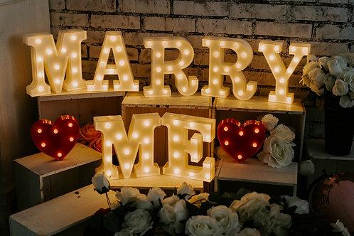 現貨 - 韓式 MARRY ME 遙控求婚燈
