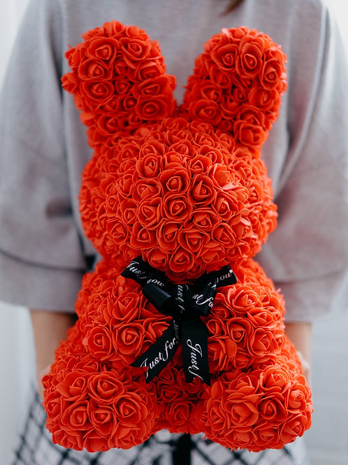 現貨 - 絲帶玫瑰兔仔 (紅色)