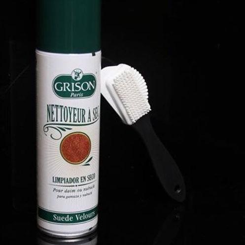 法國GRISON 麂皮護理噴霧 - 噴灑清潔劑在絨面革,反毛皮,麂皮去除污垢。