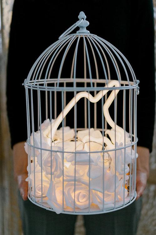 現貨 - 韓式鳥蘢·玫瑰花霓虹檯燈(黃色獨角獸)