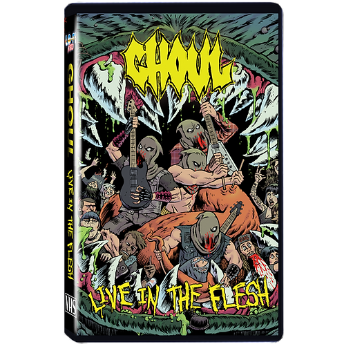 """Ghoul """"Live in the Flesh"""" VHS"""