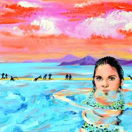 "Polka-Dot Bikini Joe LaMattina Mixed Media on Canvas 12"" x 12"" $175"