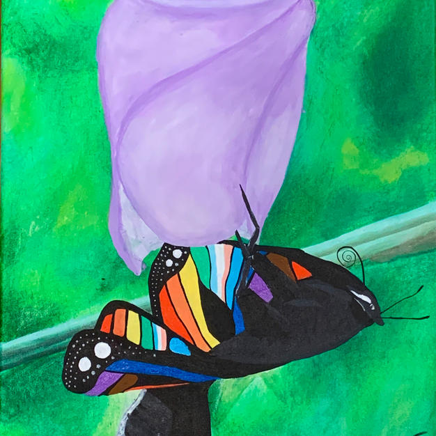 "Untitled by Chris DeTora Acrylic on Canvas 16"" x 20"" (unframed)"