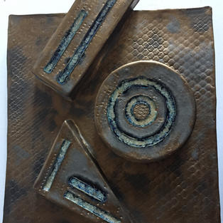 Untitled  Ricardo Arango 17''h x 13''w x 1''3/8d Ceramic-Glass  $950