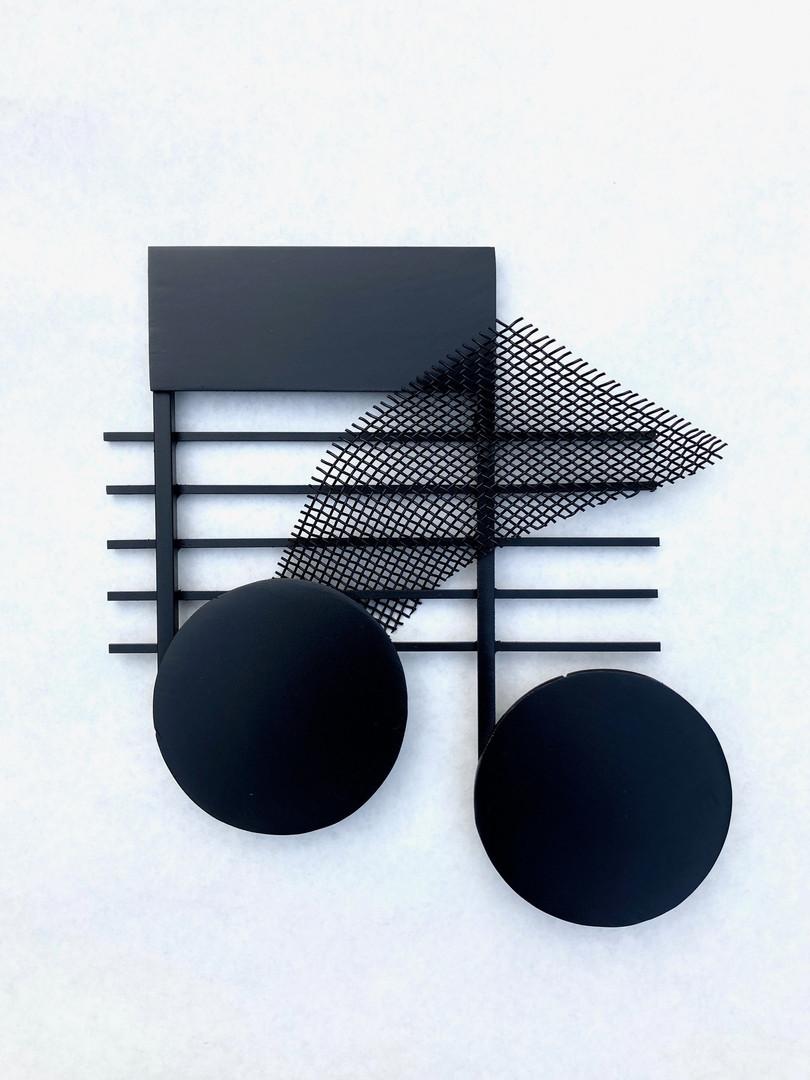B.A. D'Alessandro_Tin Ear_ Steel_ H 8.5