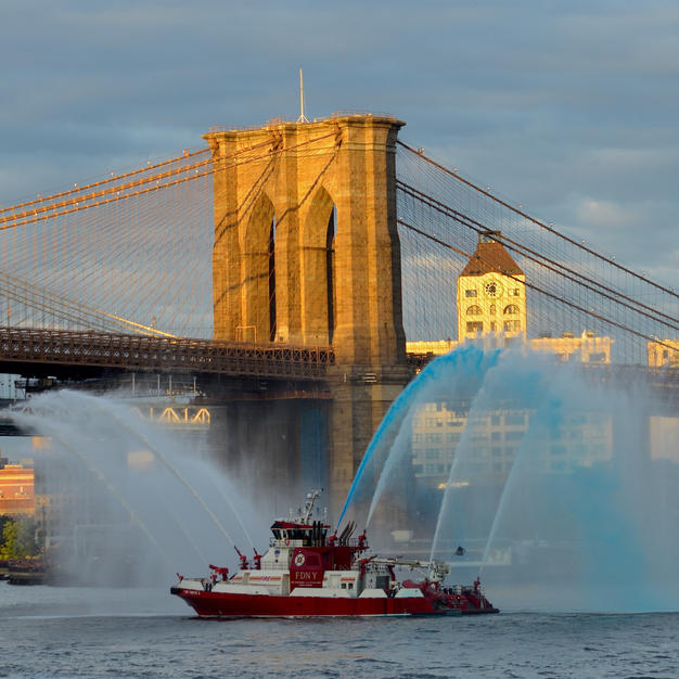 "FDNY Rob Kovacs Photo on Canvas 11"" x 14""  $100"