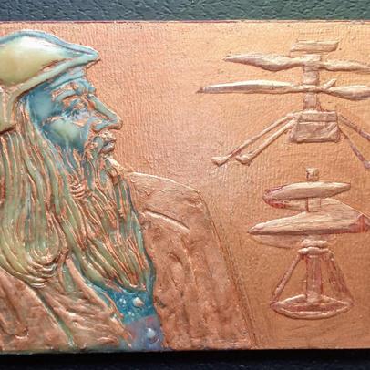 Leonardo Mars Helicopter medal