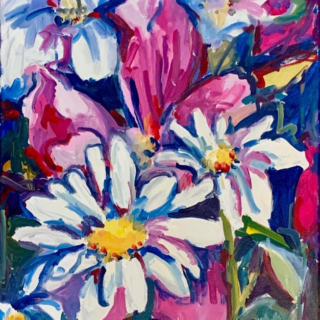 """Inspiration by Joyce Kanyuk  Acrylic on Canvas 16"""" x 24"""" (unframed)"""