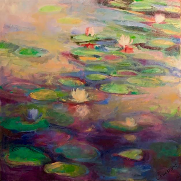 "Quiet Pond by Loren Anderson Oil on Canvas 36"" x 36"" (unframed)"