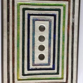 Love Colors Ricardo Arango 18''1/2h x 13'' 1/4w x 1''1/2d Ceramic-Glass-Steel  $1500