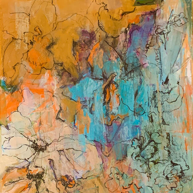 """Untitled by Jacqueline Fiore Oil on Canvas 16"""" x 20"""" (unframed)"""