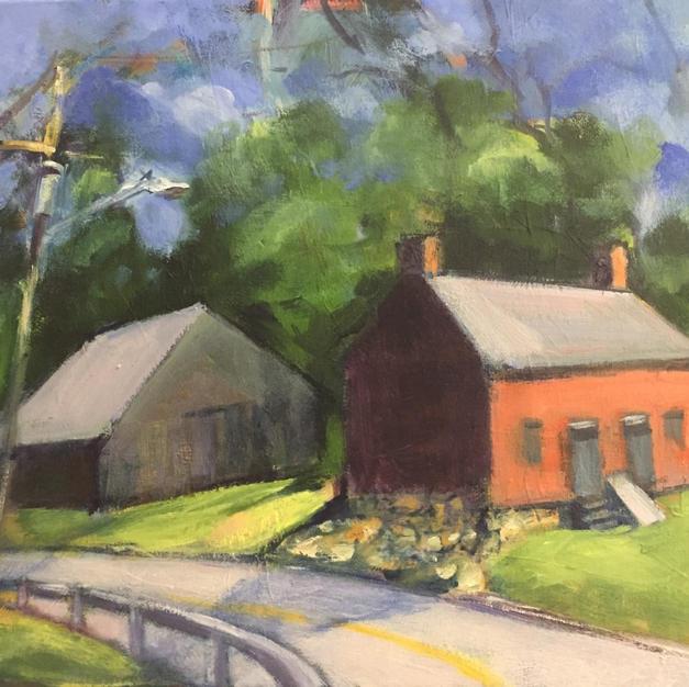 """Path, Congers Lake by Aviva Feigenheimer Oil on Canvas 12"""" x 16"""" (unframed)"""