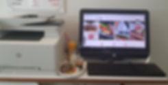מחשב ומדפסת  לשימוש לקוחות