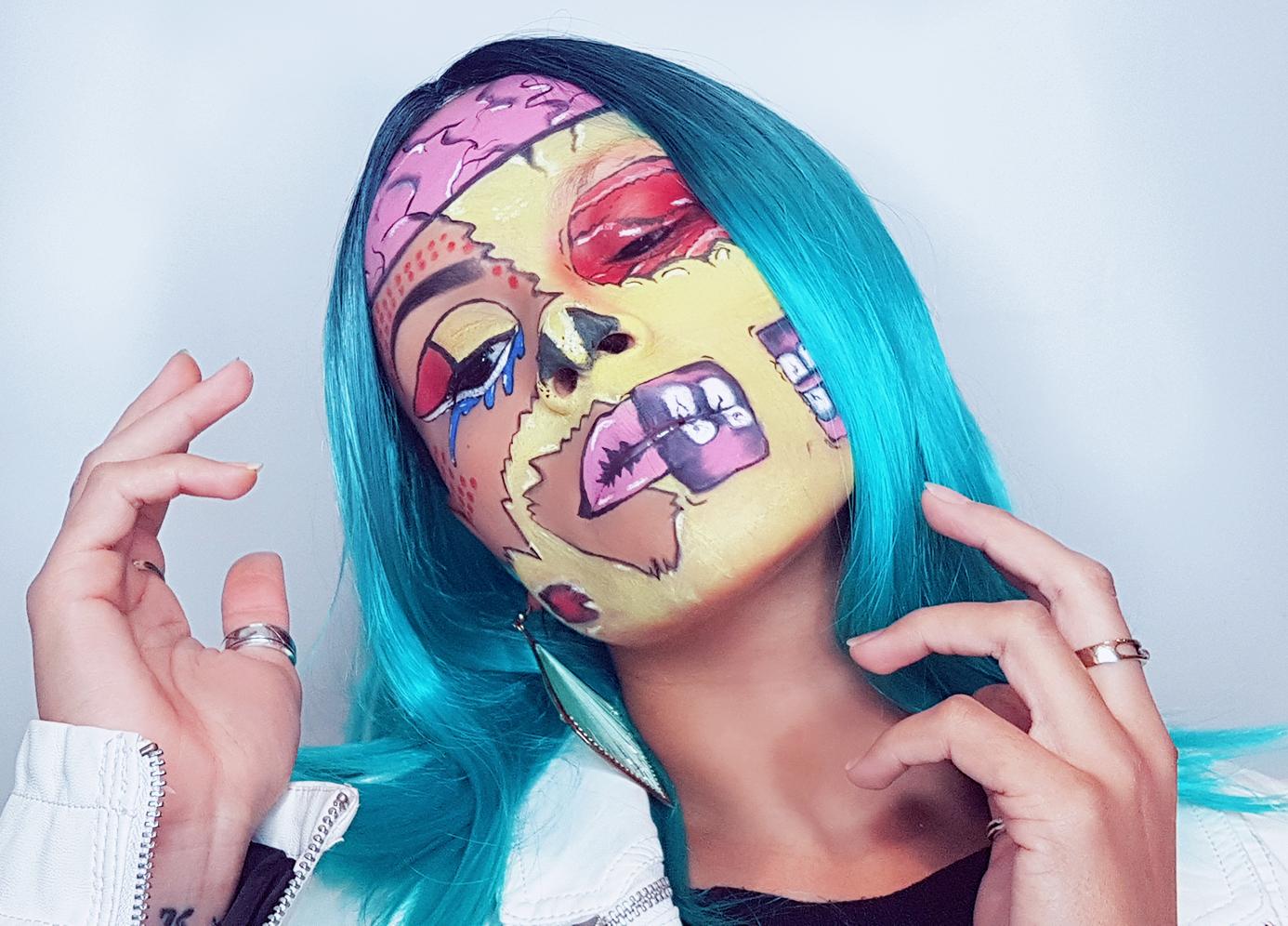 Zombie Popart Makeup