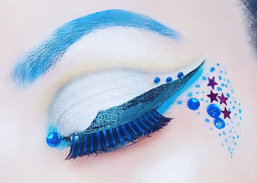 Abstract Winged Eyeliner Makeup
