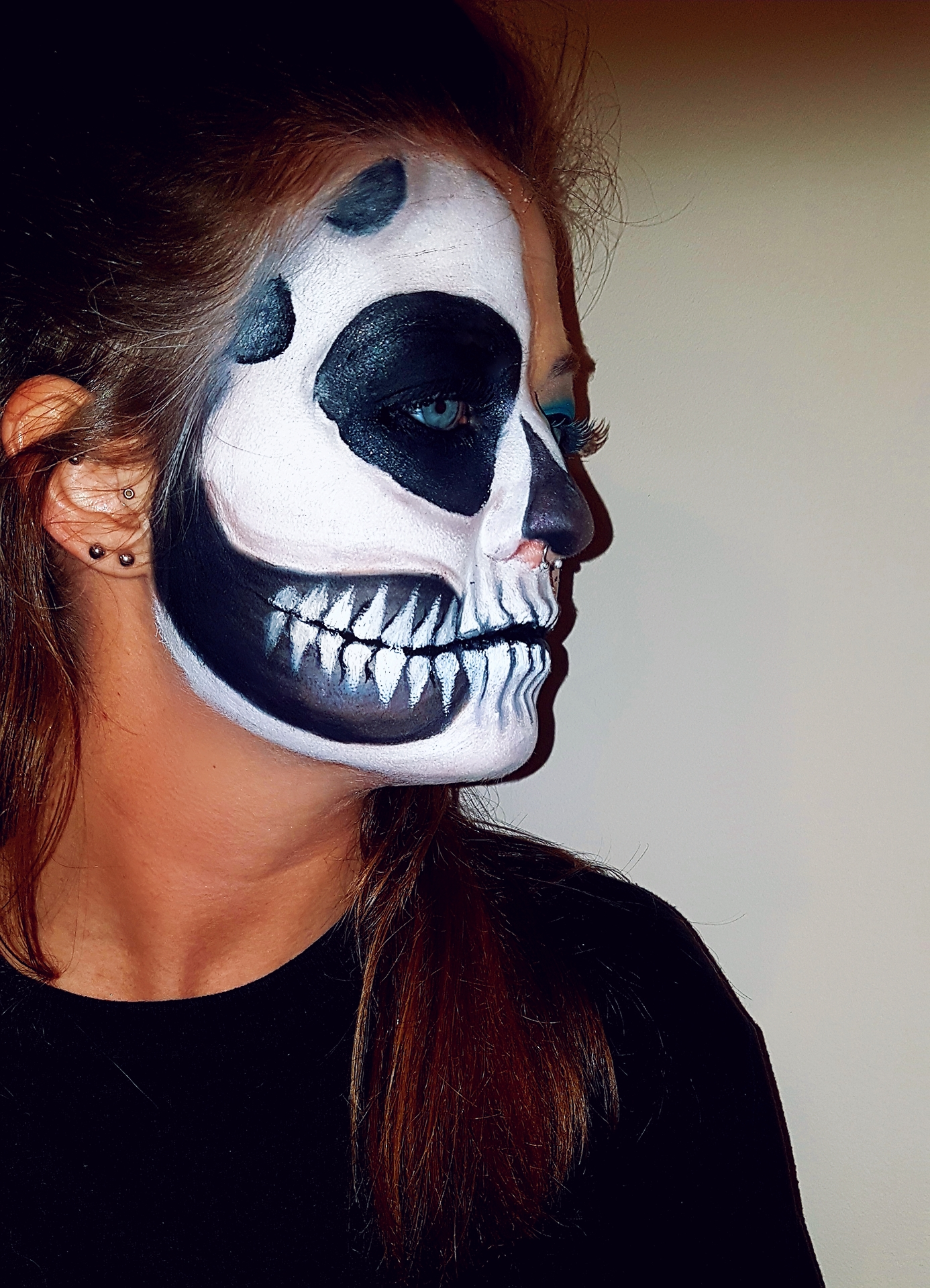 Client Skull Makeup