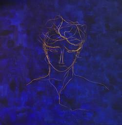 Portrait bleu et or, n° 2