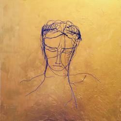 Portrait bleu et or, n° 1