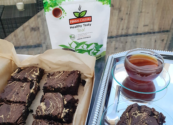 Organic tea and brownie gift box