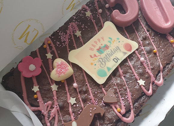 Personalised brownie slab