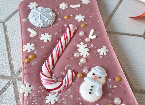 Ruby chocolate Christmas slab bar