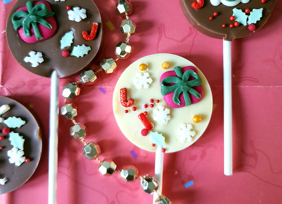Christmas chocolate lolly pops