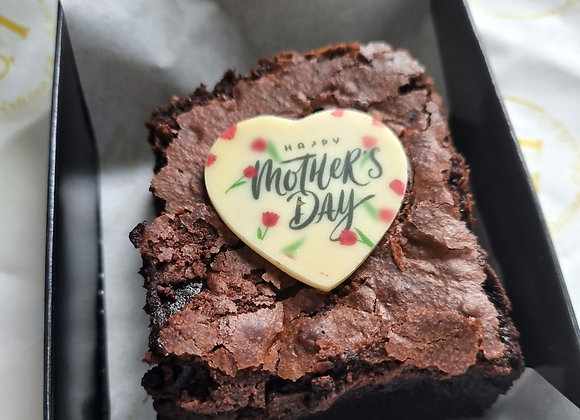 Single slice Mother's Day brownie