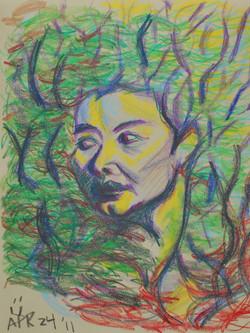 7. 回眸 -彩色鉛筆