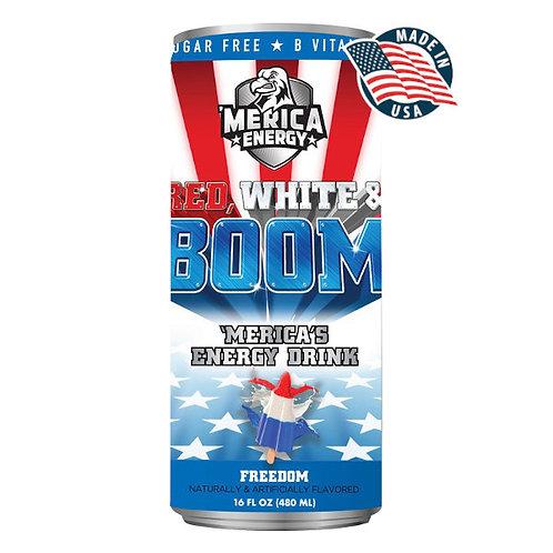 'MERICA ENERGY RED WHITE & BOOM FREEDOM
