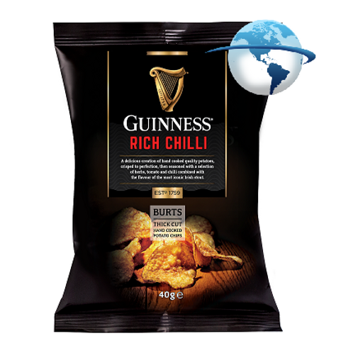 GUINNESS RICH CHILLI HAND COOKED POTATO CHIPS