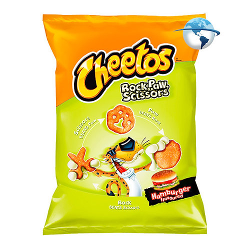 CHEETOS ROCK PAW SCISSORS HAMBURGER