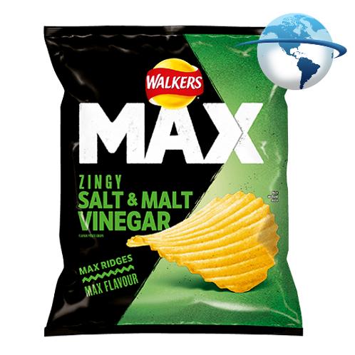 WALKERS MAX SALT & MALT VINEGAR CHIPS