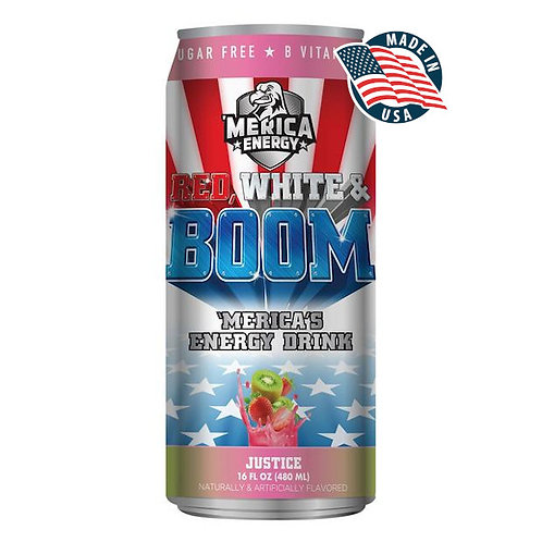 'MERICA ENERGY RED WHITE & BOOM JUSTICE