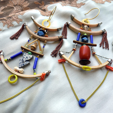 temple earrings for Erykah Badu