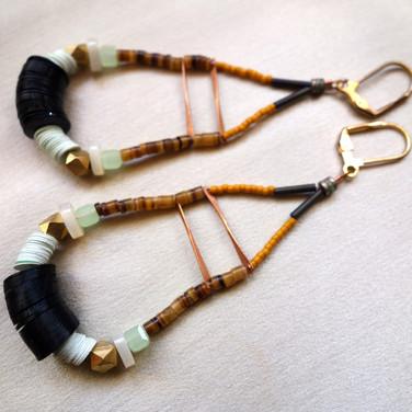 Shell mound earrings