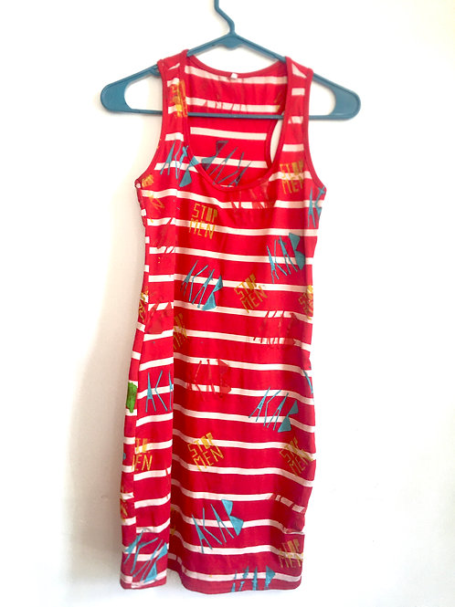 Stretchy size small  unstretched shoulder 9 in chest  13 1/2  hips 15in L 33in
