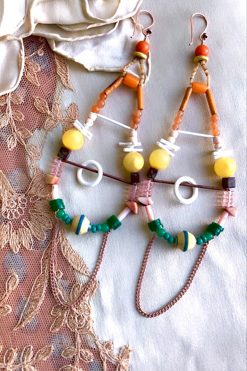 Sweet grass hoop earrings