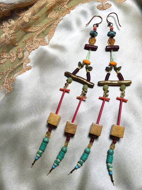 Brick n mortar bling earrings