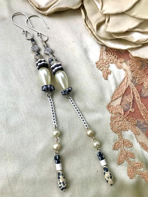 Dalmatian chime earrings