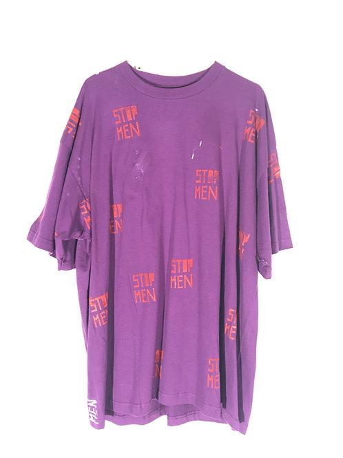 Purple/Plum Tee with Orange Print 3XL