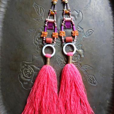 Pink Chase tassel bling