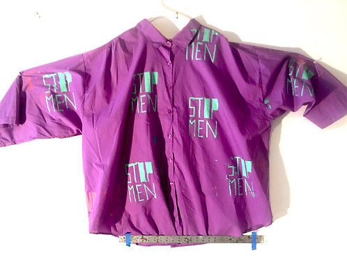 Electric Purple & Teal Button Down Size 3XL-5XL